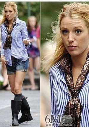 [转载]长衬衫搭配短裤 职业装也能穿得出